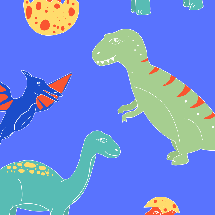 Pet Deckchair  with Dinosaurs