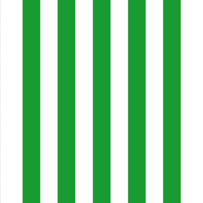 Giant Deckchair  with Green Stripes