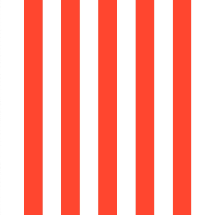 Giant Deckchair  with Orange Stripes