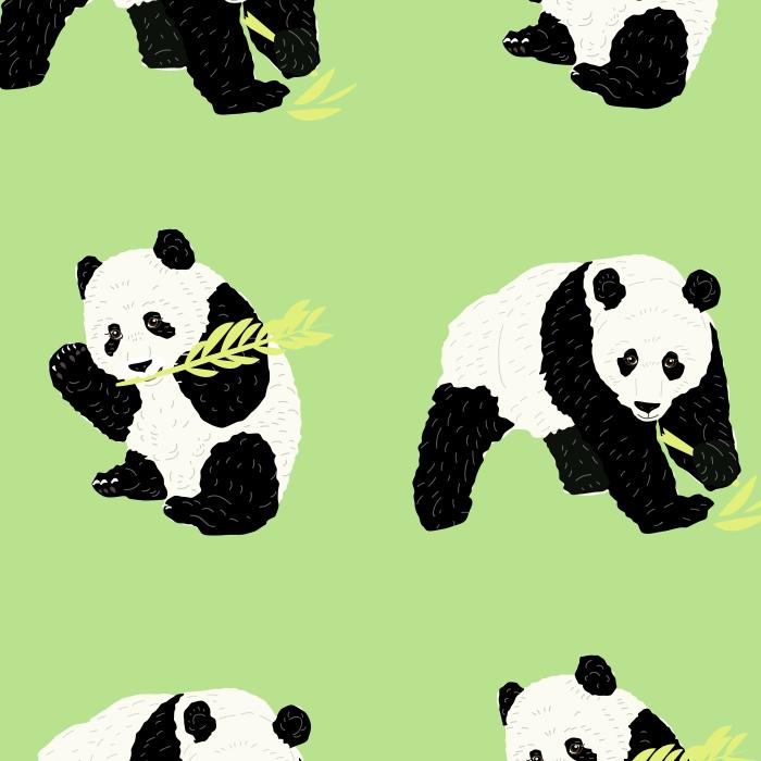 Pet Deckchair  with Panda