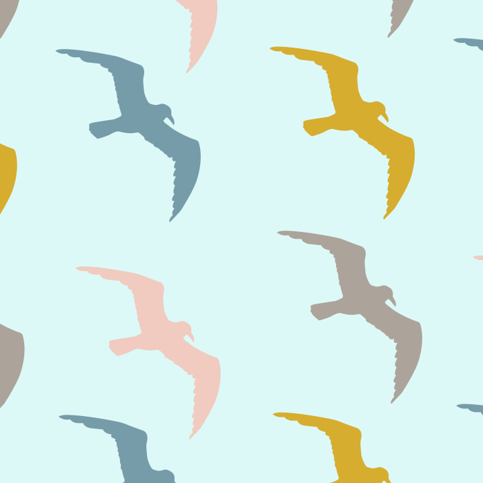 Pet Deckchair  with Seagulls
