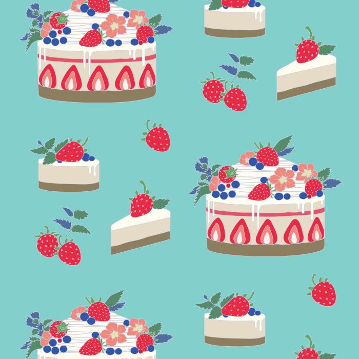 Pet Deckchair  with Strawberry Cheesecake