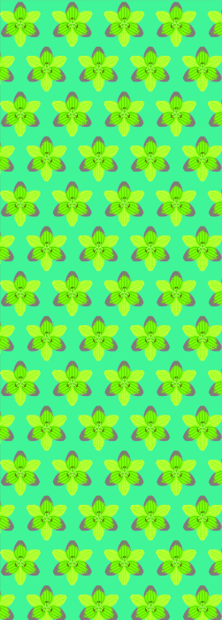 Bold stylised Lilly flower pattern