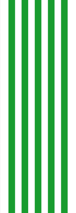 Green and white stripey deck chair