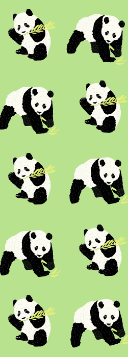 Panda and bamboo deck chair fabric