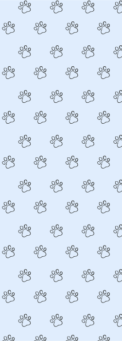 Paw print outline drawing deck chair