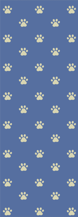 Dog paw print or cat paw print deck chair