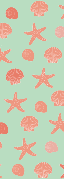 Starfish and shell deck chair fabric