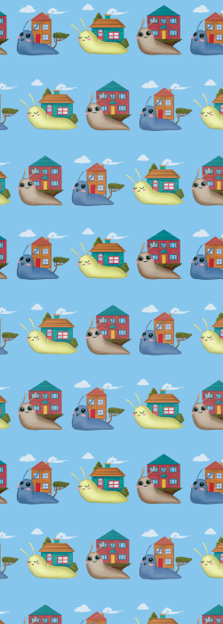 Cute snail with house deck chair fabric