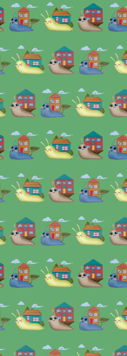 Happy snail kids deck chair fabric