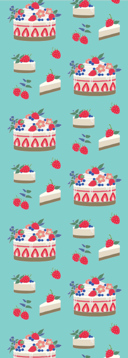 Strawberry cheesecake fabric deck chair