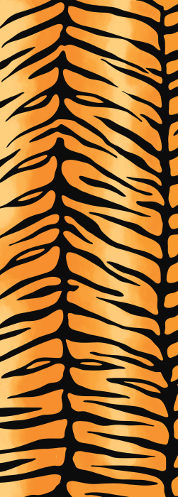 Bold tiger print deck chair fabric