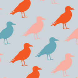 Birds print for Croyde - Classic