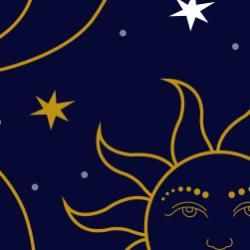 Celestial print for Bantham - Tiny