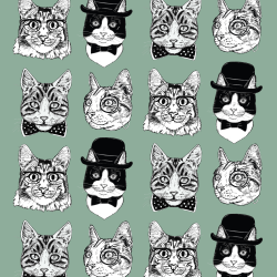 Dapper Cats print for Elbury - Junior