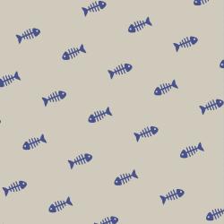 Fishbone print for Bantham - Tiny