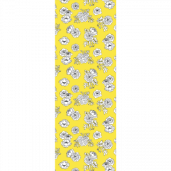 Monochrome Flowers - Yellow print for Bantham - Tiny