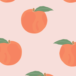 Peaches print for Croyde - Classic