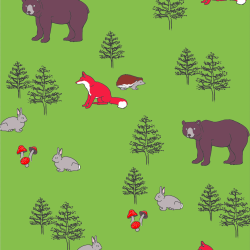Woodland Animals print for Elbury - Junior