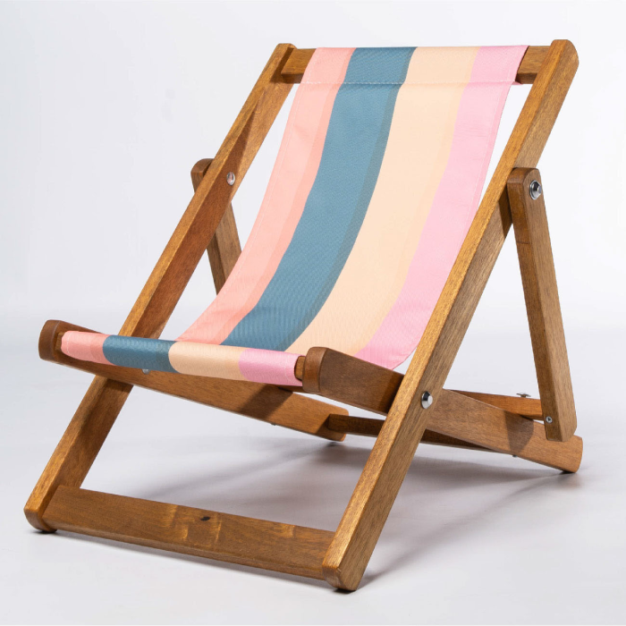 Ice cream stripe kids deckchair