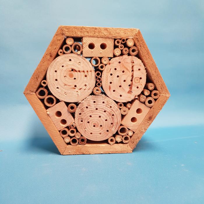 Hexagon shaped bug hotel