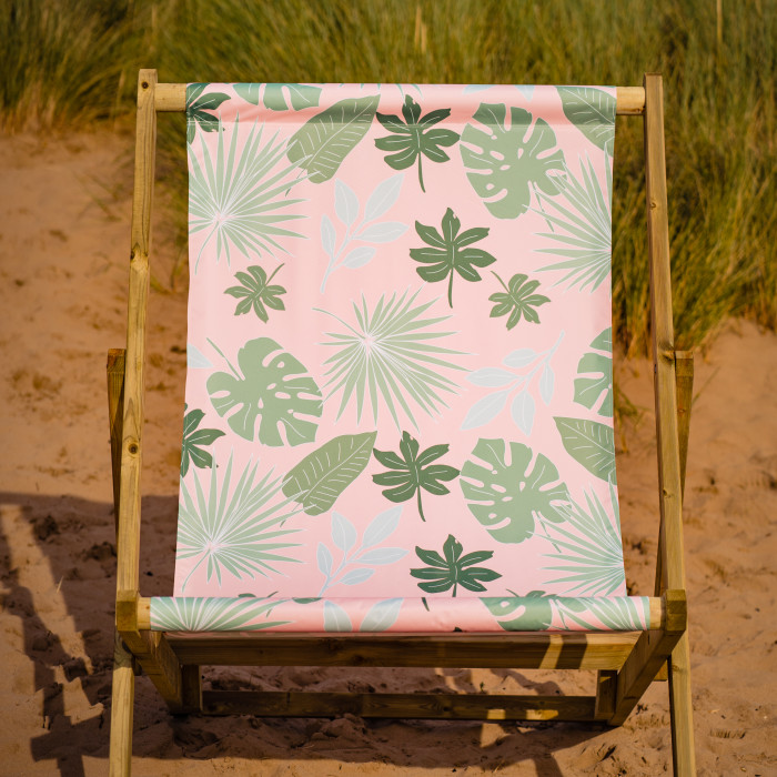 Botanical print Giant 3 seater deckchair