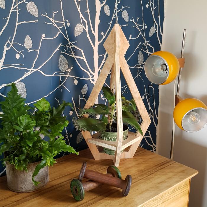 Wooden Plant Holder