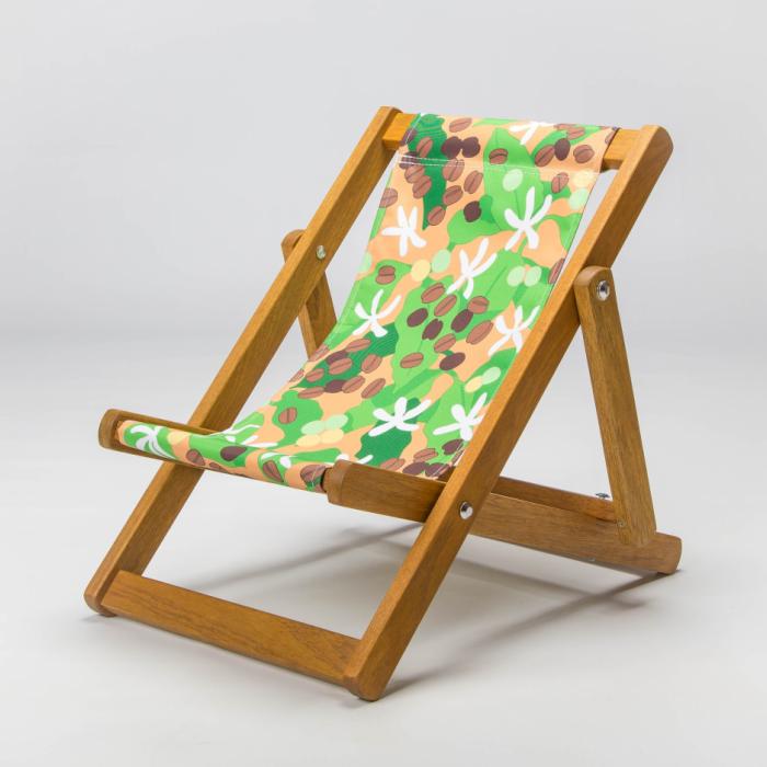 Coffee deckchair print