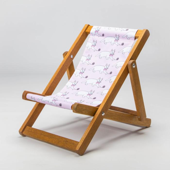 Kitten print deckchair