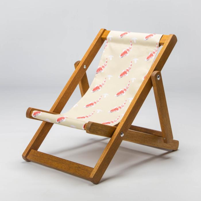 Koi goldfish deckchair
