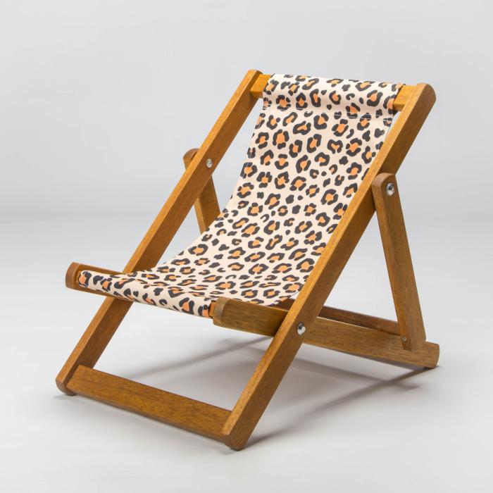 Leopard print deckchair