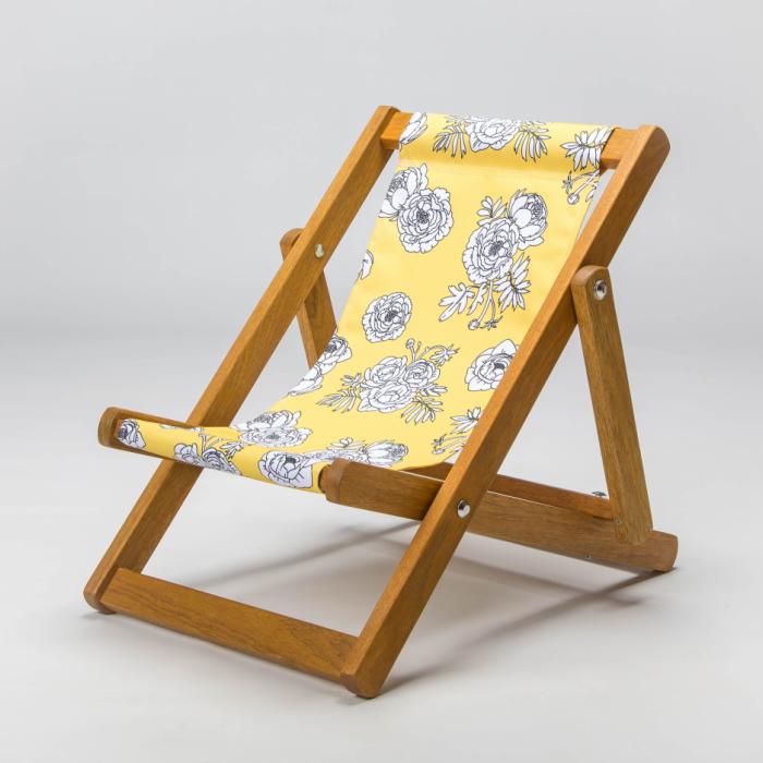 Monochrome Flowers - Yellow print for Bantham Deckchair