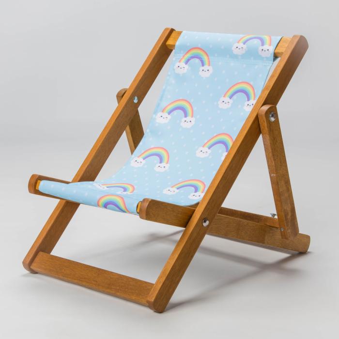 Kawaii rainbow cute deckchair