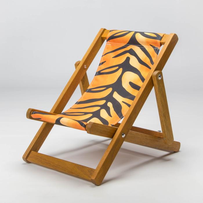 Tiger stripe deckchair