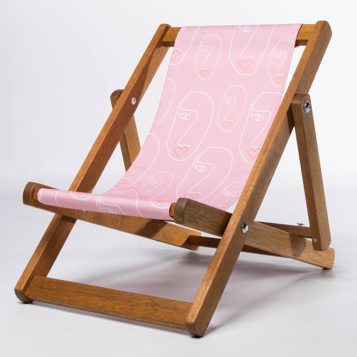 Abstract Faces print for Bantham Deckchair
