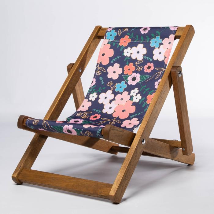 Asian Flowers print for Bantham Deckchair