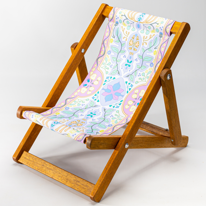 Colourful Tapestry print for Bantham Deckchair