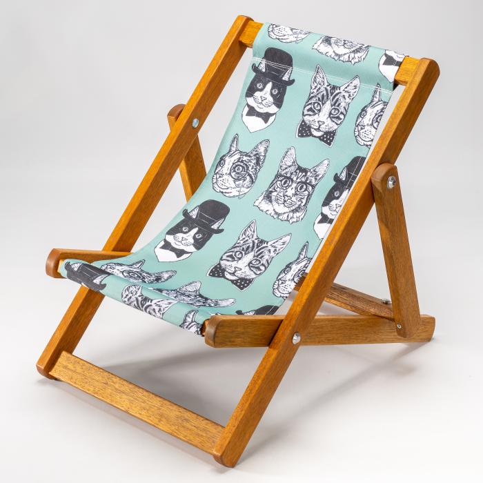 Dapper Cats print for Bantham Deckchair