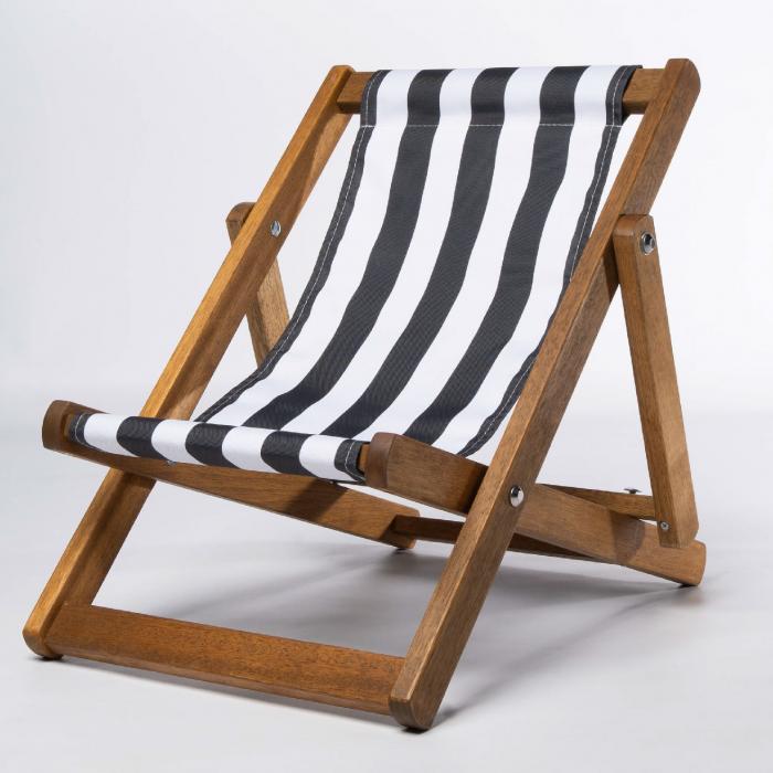 Black Stripes print for Bantham Deckchair