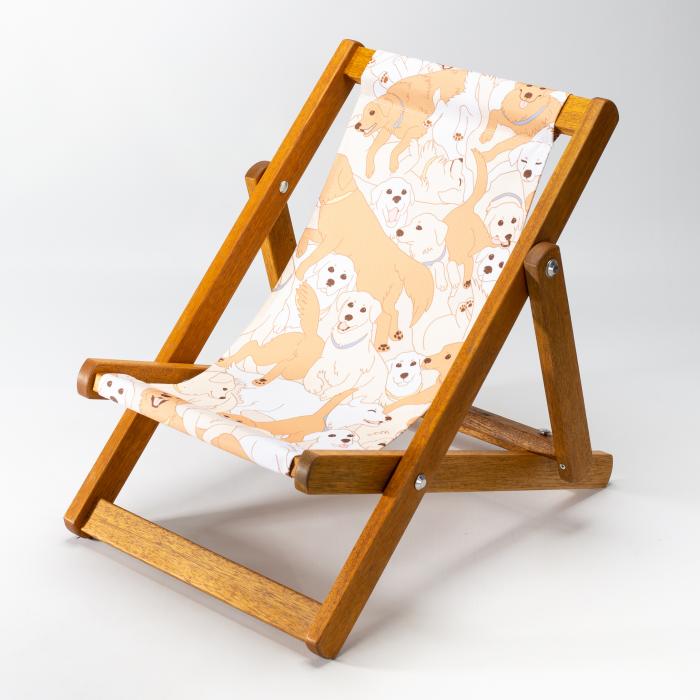 Golden Retrievers print for Bantham Deckchair