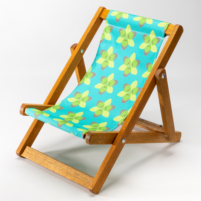 Graphic Lily print for Bantham Deckchair