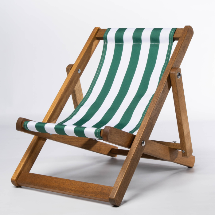 Green Stripes print for Bantham Deckchair