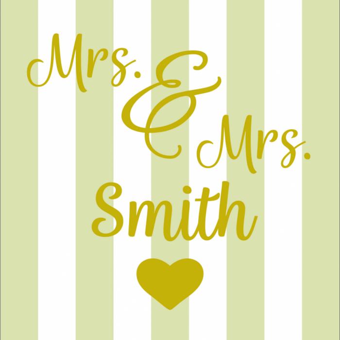 Mrs & Mrs - Customisable - Taupe print for Bantham Deckchair