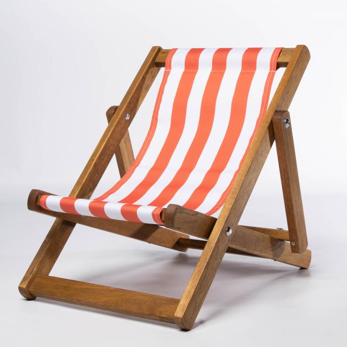 Orange Stripes print for Bantham Deckchair
