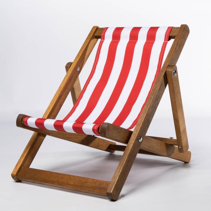 Red Stripes print for Bantham Deckchair