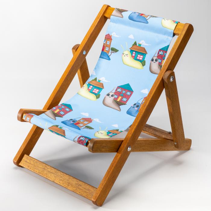 Snails - Blue print for Bantham Deckchair