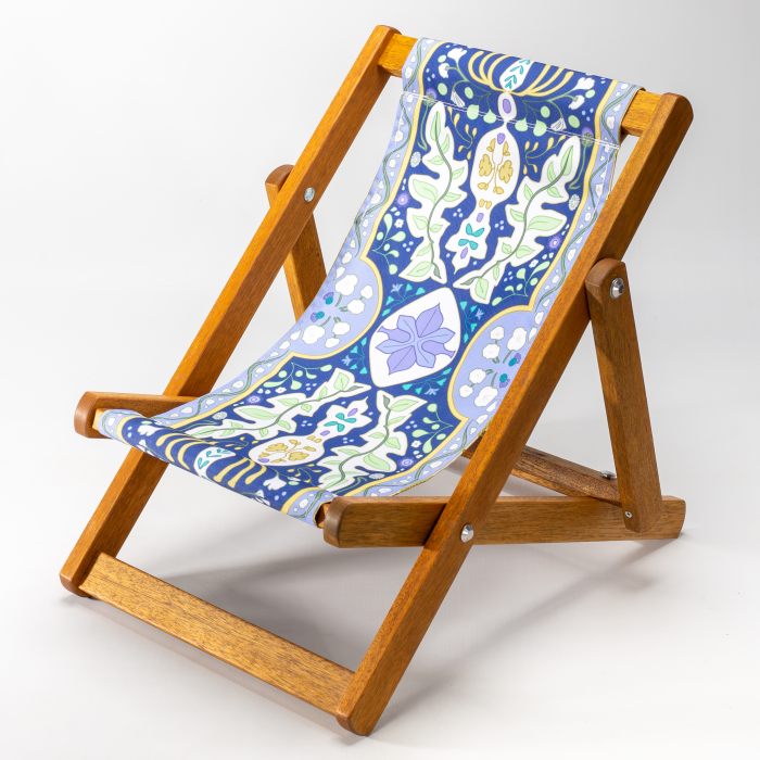 Tiny Deckchair  with Twilight Tapestry
