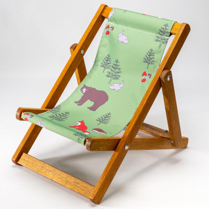 Woodland Animals print for Bantham Deckchair