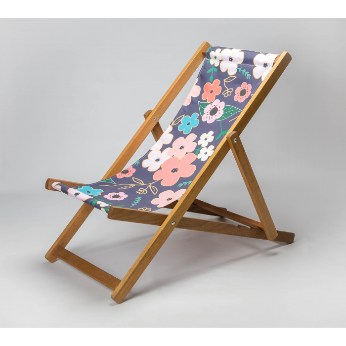 Asian Flowers print for Croyde Deckchair