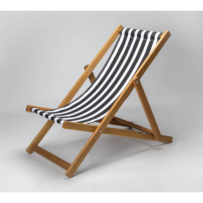 Black Stripes print for Croyde Deckchair